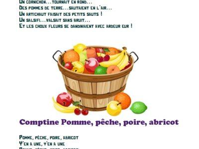 mélodies mots fruits et légumes