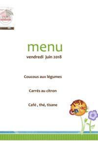 menu du 22 juin 18