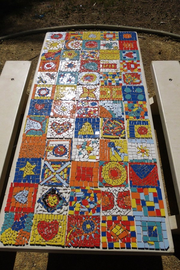 Table Mosaique Avant Joint Terre Contact
