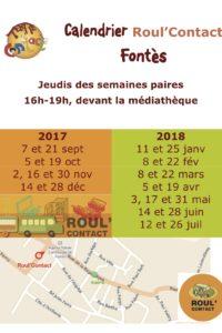 calendrier Roul'Contact Fontès