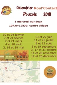 calendrier Roul'Contact Pouzols